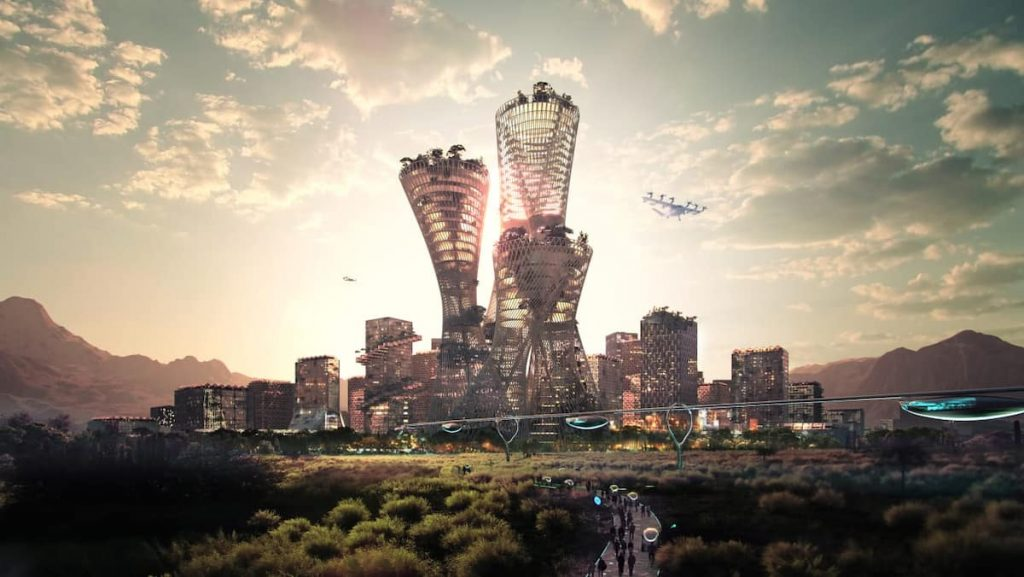 The US billionaire plans to build a smart eco-metropolis in the middle of the desert